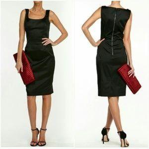Dolce & Gabbana black square neck pencil dress